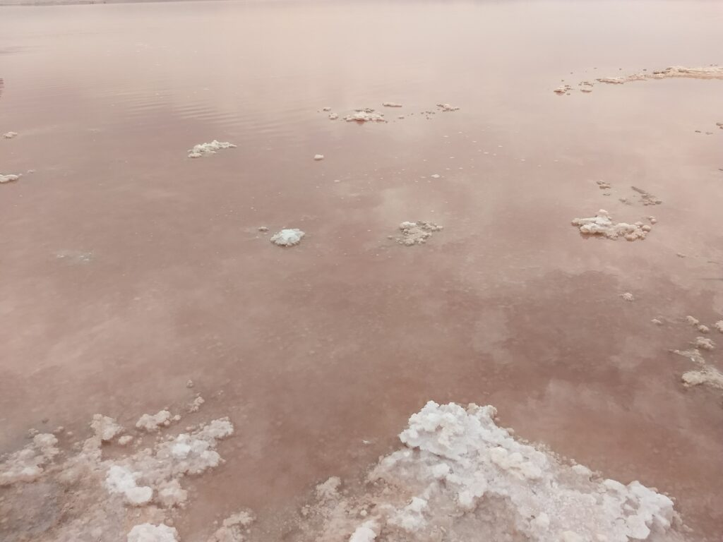 Red salt lake of Torrevieja